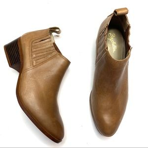 Seychelles Brown Leather Ankle Bootie